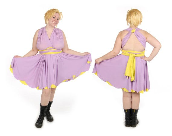 Lumpy Space Princess Adventure Time inspired dress by Little Petal.
