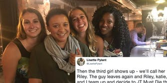 Lisette Pylant and her new friends that were all supposed to go on dates with the same guy that night.