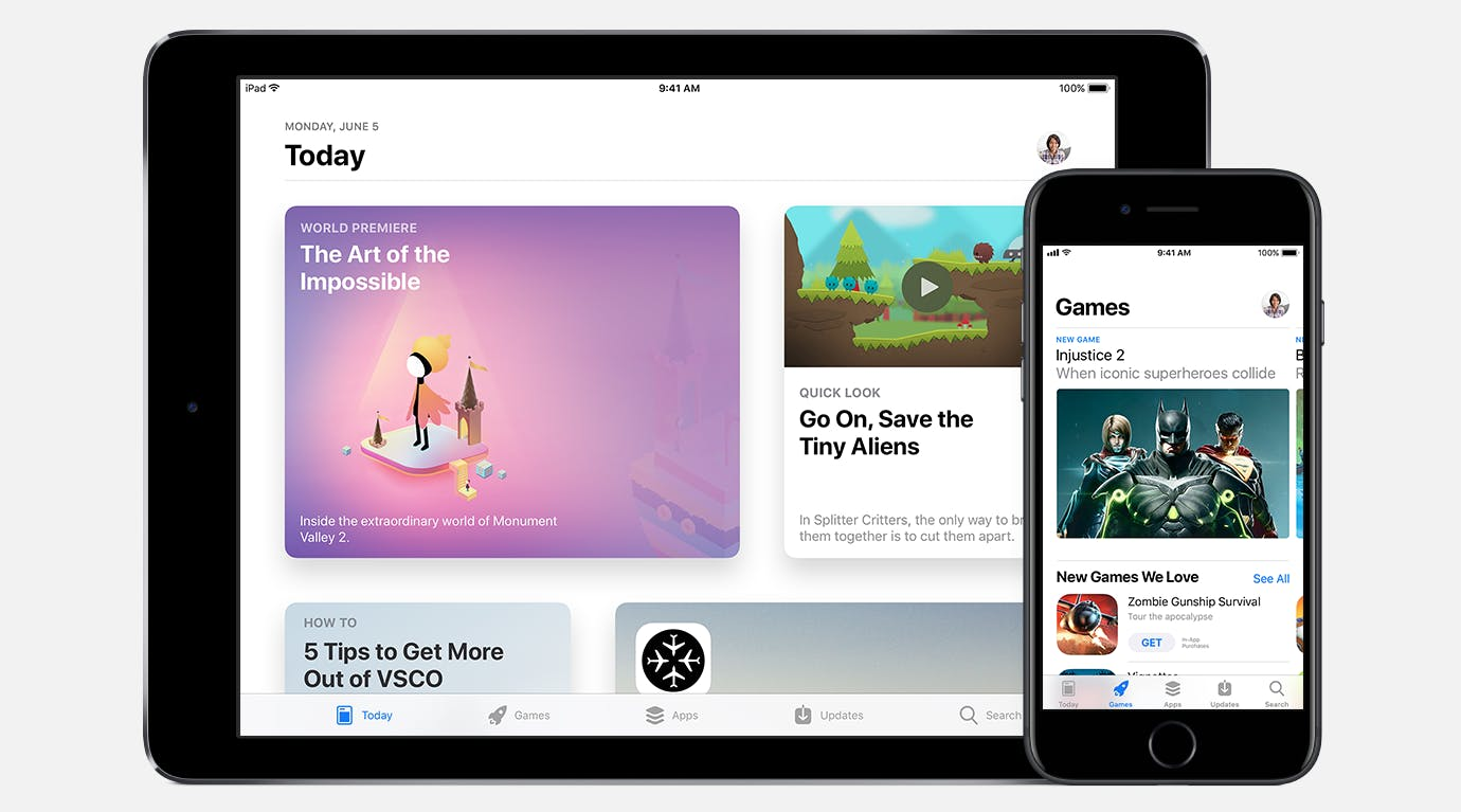 ios 11 features: a new App Store on iPad and iPhone