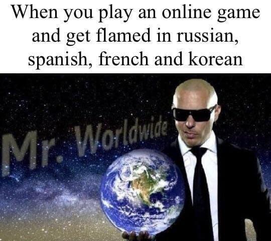 when you play online pitbull mr worldwide meme