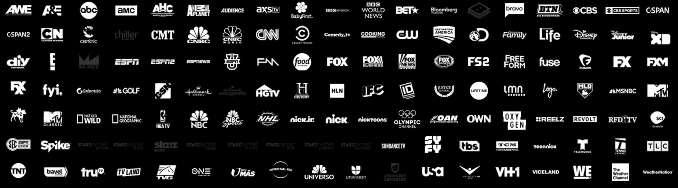 directv now channels go big package