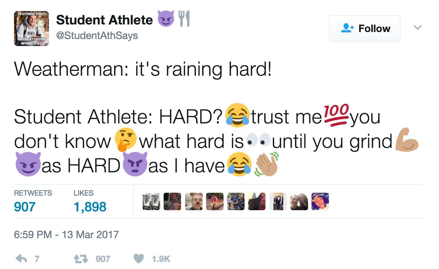 Best memes 2017 : Student athlete