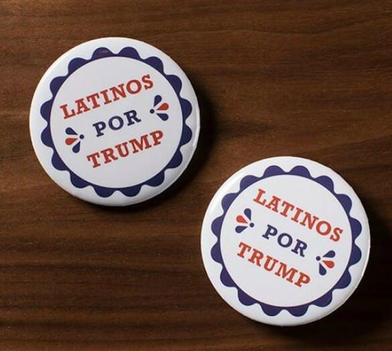 Donald Trump Latino buttons