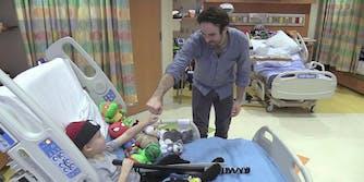 Charlie Cox visits children at Blythedale Children's Hospital