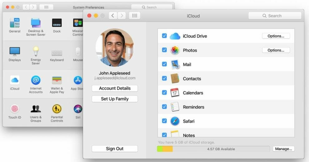 How to set up iCloud on macOS