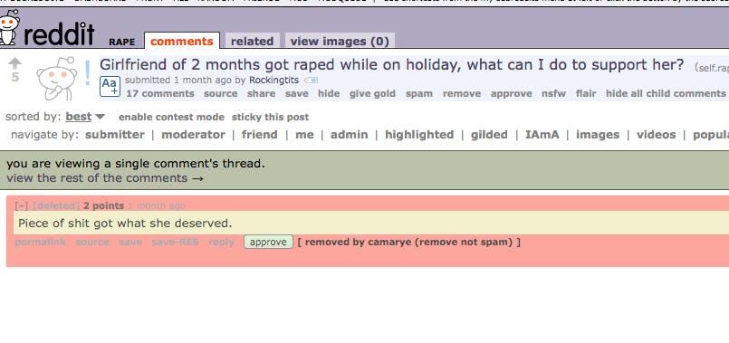 Reddit r/rape 1