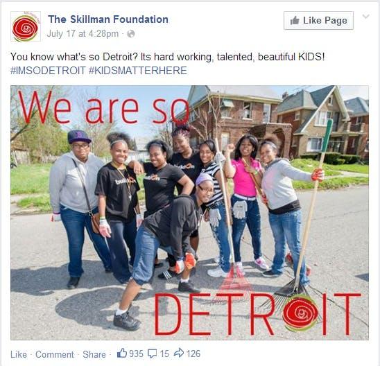 You know what's so Detroit? Its hard working, talented, beautiful KIDS! #IMSODETROIT #KIDSMATTERHERE