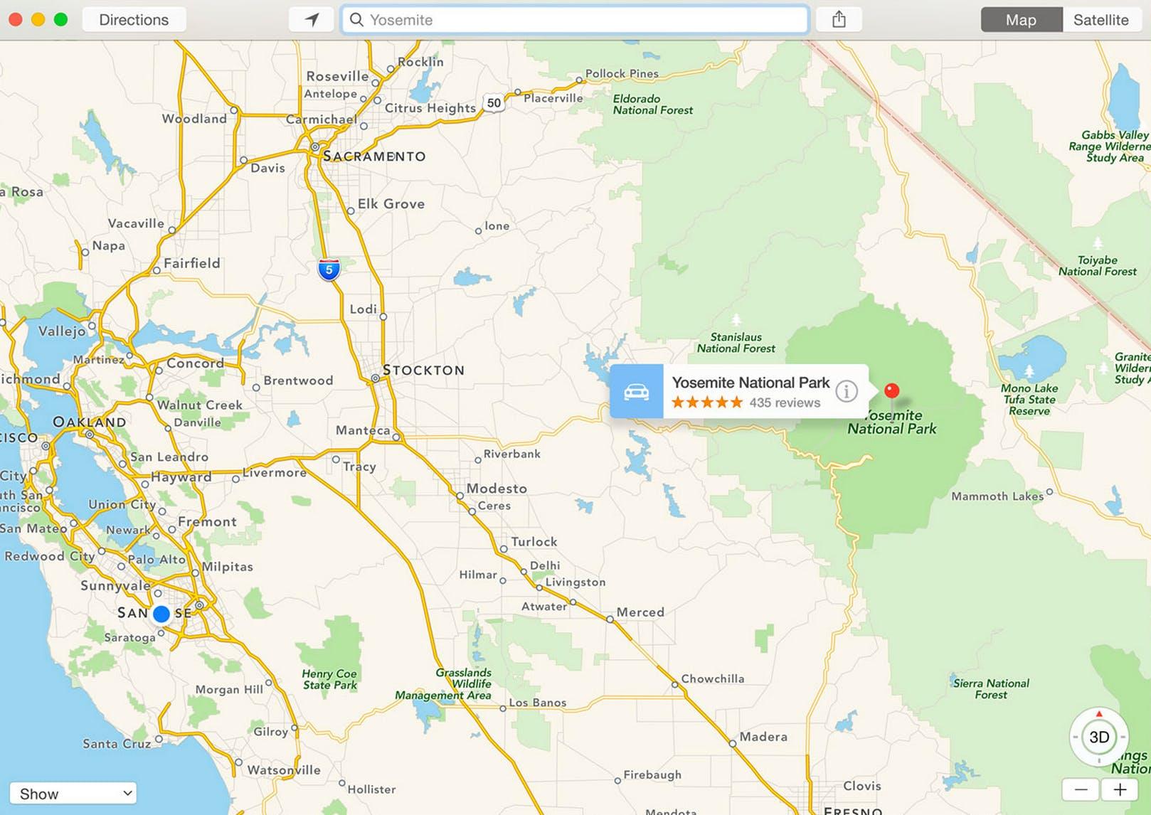 Yosemite maps