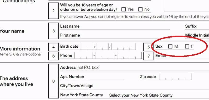 New York registration form