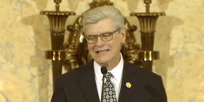 Mississippi Gov. Phil Bryant delivering the 2018 State of the State.