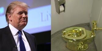 trump gold toilet