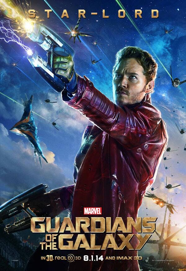 Guardians of the Galaxy, Star-Lord poster.