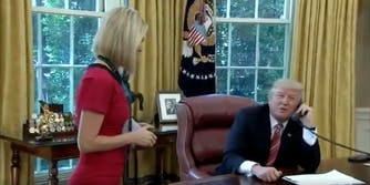 Donald Trump flirting with Irish journalist Caitriona Perry