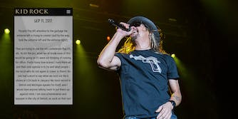 Kid Rock addressed controversy surrounding his use of Confederate flags.