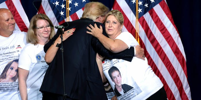 Donald Trump Hugging Supporters