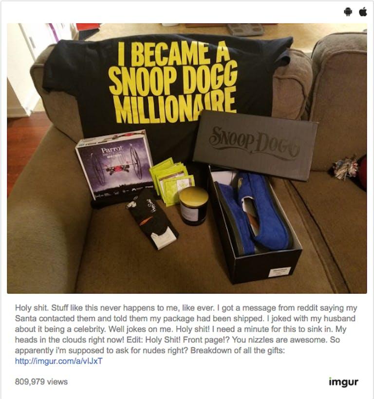 reddit : snoop dogg secret santa