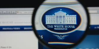 White House Website with Magnifying Glass