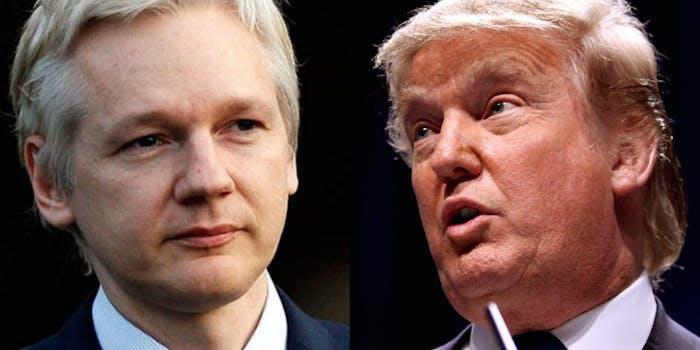Julian Assange and Donald Trump