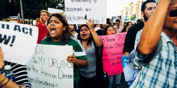 Protesters in Los Angeles defending the Deferred Action for Childhood Arrivals (DACA) Program on Sept. 5, the day the Trump administration ended DACA.