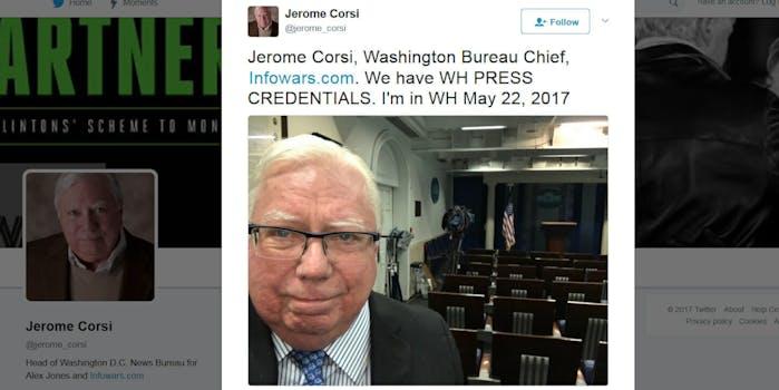 Jerome Corsi, Washington Bureau Chief of Infowars
