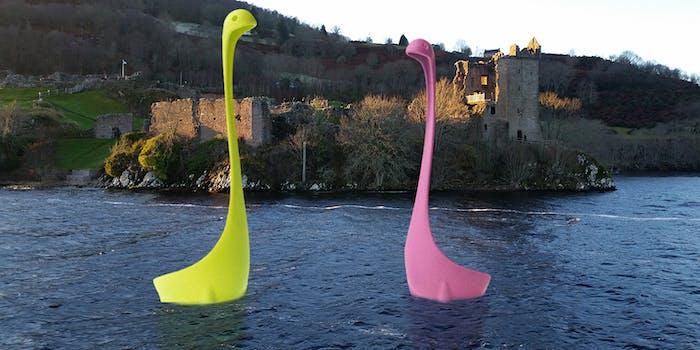 """""""Nessie"""" ladles in Loch Ness"""