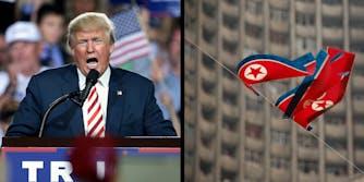 Donald Trump and the North Korean flag
