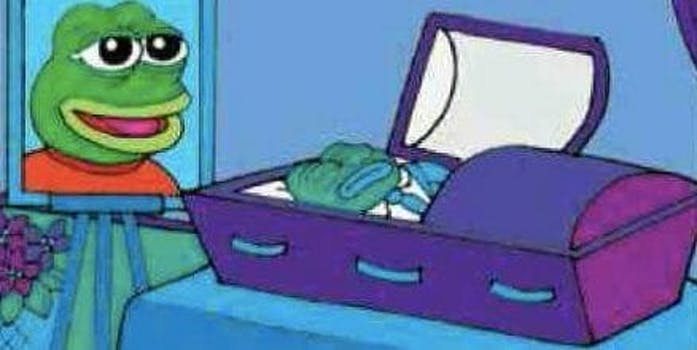 pepe the frog dead: frog picture at funeral by matt furie