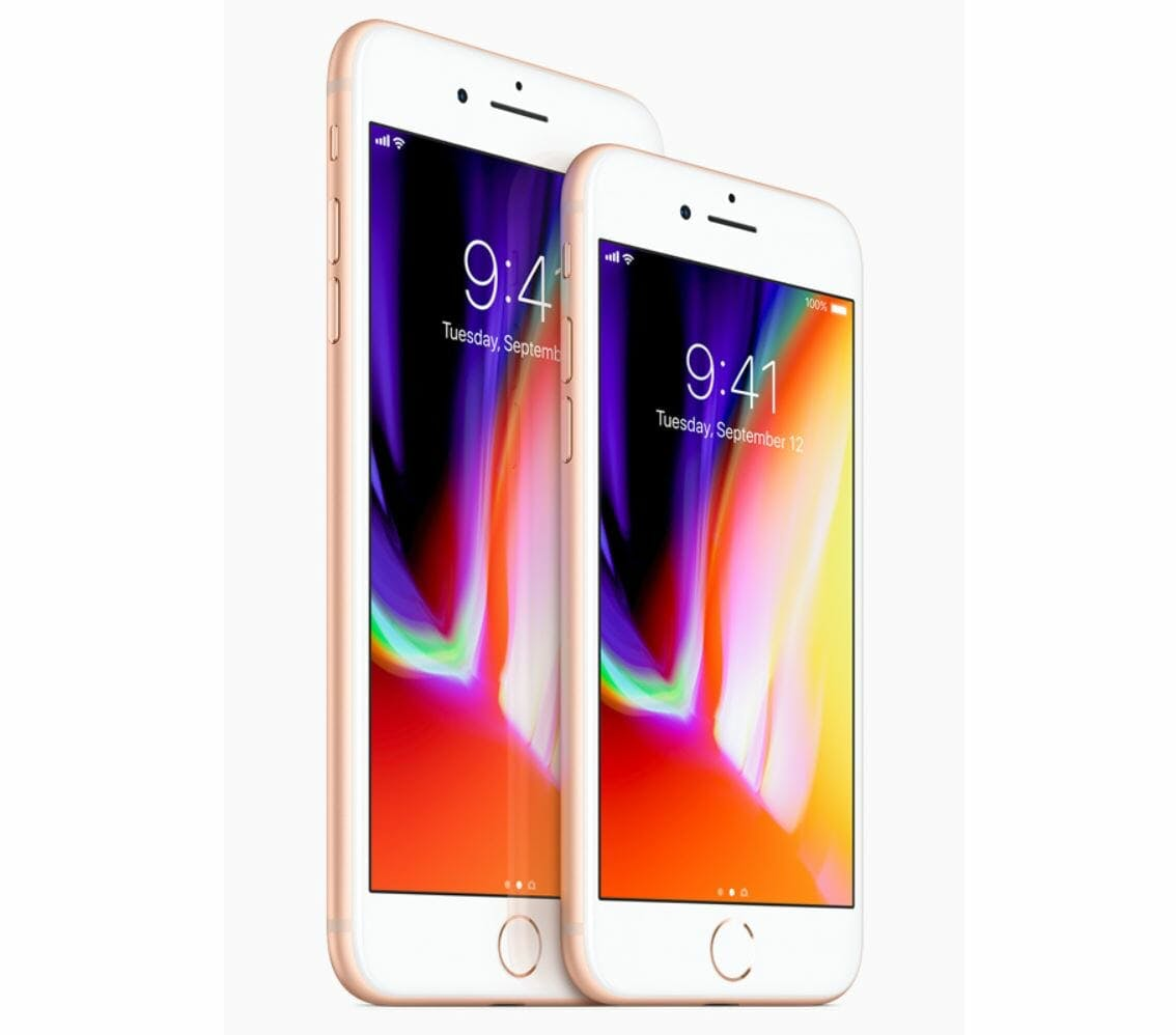 best iphone ever : iphone 8 and iphone 8 plus display apple smartphone