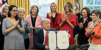 Trump signing INSPIRE Women Act
