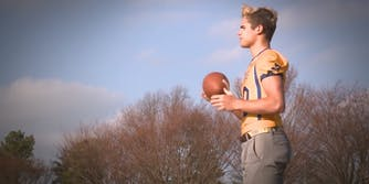 Football star Jake Bain was targeted by the Westboro Baptist Church earlier this year.