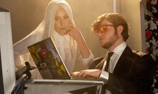 Lady Gaga playing Minecraft