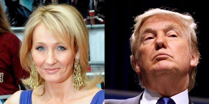 JK Rowling and Donald Trump