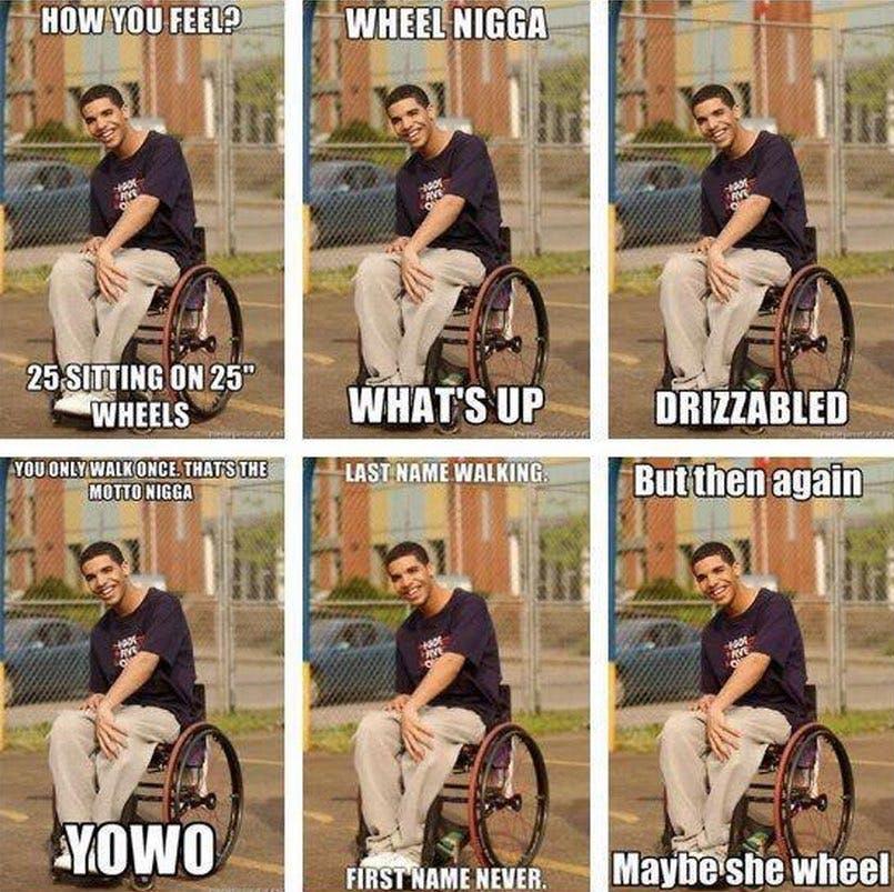 drake memes: wheelchair memes