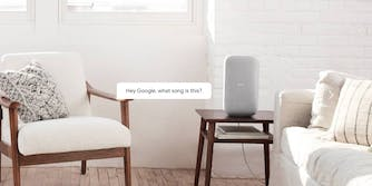 Google Home Max in living room