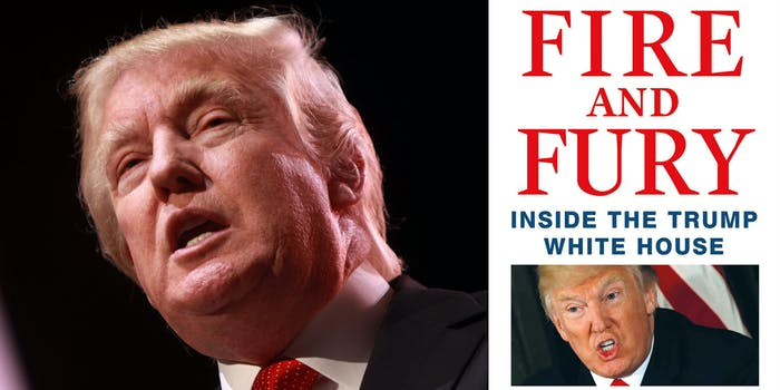 """Donald Trump and """"Fire and Fury"""" book, a pirated copy of which contains malware"""