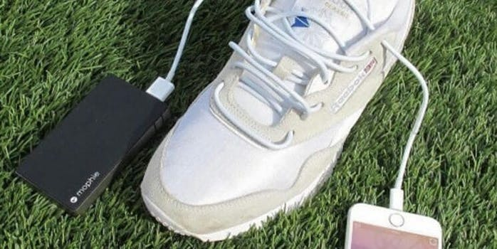 3017 shoes with phone charger laces