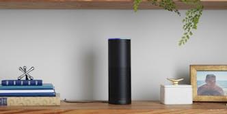 Amazon Alexa on shelf