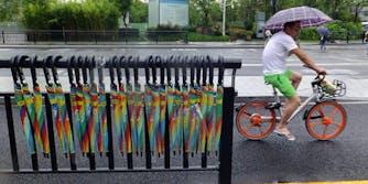 chinese startup umbrella sharing economy