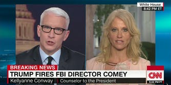 Anderson Cooper and Kellyanne Conway