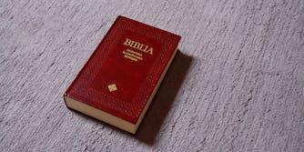 Bible on concrete
