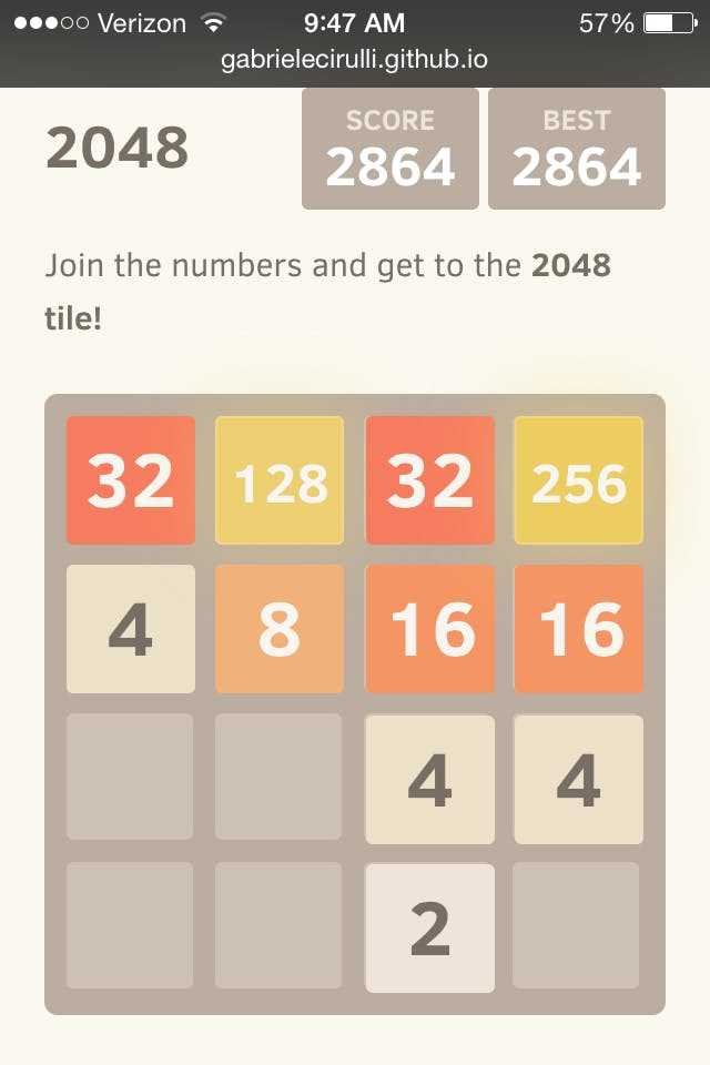strategy to 2048
