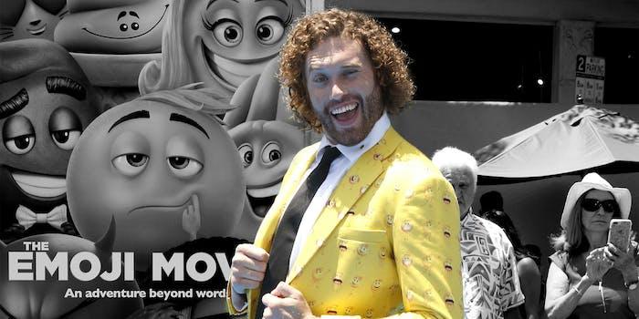 TJ Miller at The Emoji Movie premiere