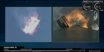 SpaceX Falcon 9 launch return