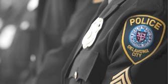 An Oklahoma City Police badge
