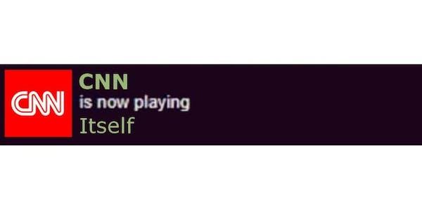 cnn now playing itself meme