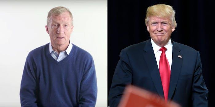 Tom Steyer and Donald Trump