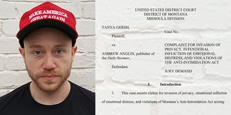 Andrew Anglin lawsuit notice