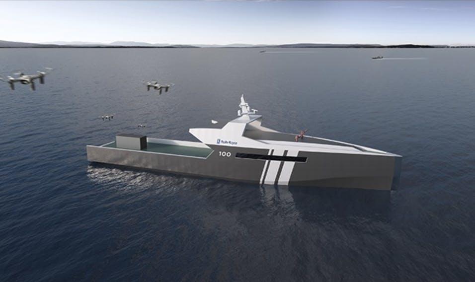 rolls royce autonomous navy vessel
