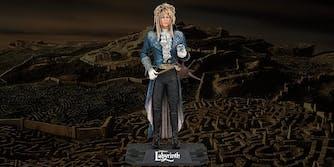 Jareth figurine over Labyrinth background