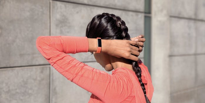 Alta HR band on a woman's wrist